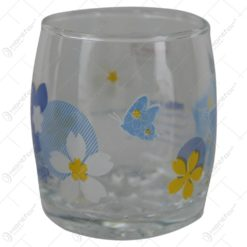 Set 6 pahare din sticla - Design cu Fluturi