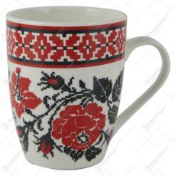 Cana Traditionala din ceramica cu motive florale 10 CM