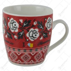 Cana Traditionala din ceramica cu motive florale 8 CM I love Romania