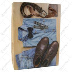 Punga cadou din hartie 18x24 CM - Vintage fashion