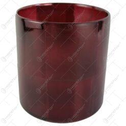 Candela din sticla Bordo-Transparent 15x17 CM
