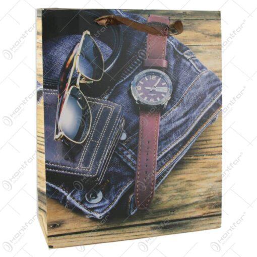 Punga cadou din hartie 26x32 CM - Vintage fashion