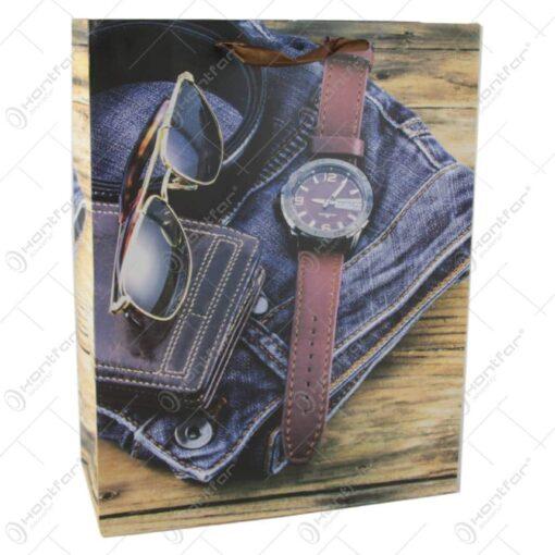 Punga cadou din hartie 31x40 CM - Vintage fashion