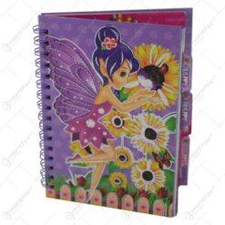 Agenda cu spirala - Design cu Zana Florilor 12x16 CM