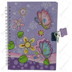 Agenda cu lacat- Design cu flori 13x18 CM
