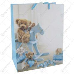 Punga cadou din hartie 18x23 CM - Ursulet Albastru