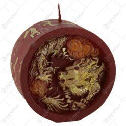 Lumanare decorata balaur chinez 8 CM