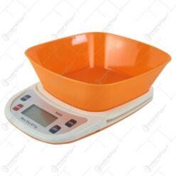 Cantar electronic de bucatarie cu bol de plastic max 5 kg