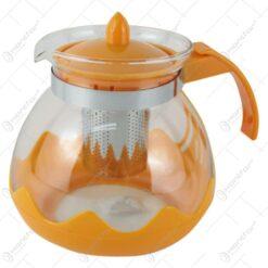 Cana ceai cu infuzor metalic din sticla termorezistenta 1.5 L