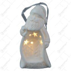 Figurina din ceramica cu led - Om de zapada/Mos Nicolae