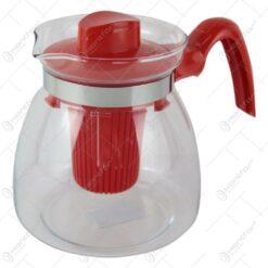 Cana ceai cu infuzor plastic din sticla termorezistenta 1.25 L