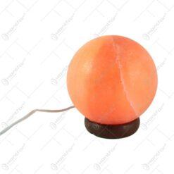 Lampa electrica din cristal de sare Glob 15 CM