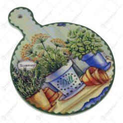 Suport pentru vase fierbinti din ceramica si pluta 15x20 CM Verdeturi