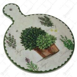 Suport pentru vase fierbinti din ceramica si pluta 15x20 CM Fresh Herbs