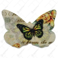 Magnet frigider Fluture din ceramica 8x5 CM - Vintage