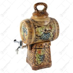 Butoi vin din ceramica cu robinet 32x48 CM - Struguri