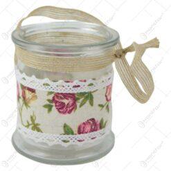 Vaza din sticla cu dantela florala 8x10 CM