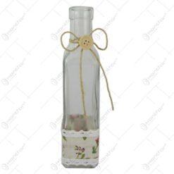 Vaza din sticla cu dantela florala 5x21 CM