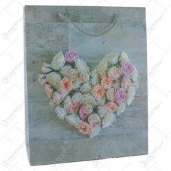 Punga cadou din hartie 26x32 CM - Inima Florala