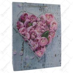 Punga cadou din hartie 31x40 CM - Inima Florala