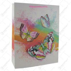 Punga pentru cadouri - Design cu flori si fluturi - Diverse modele (Modlel 2)
