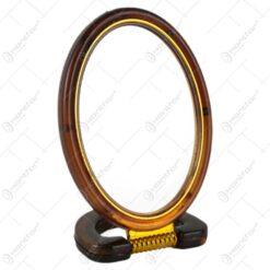 Oglinda ovala cu rama din plastic 14 CM