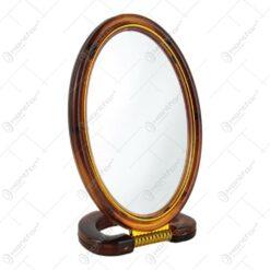 Oglinda ovala cu rama din plastic 17 CM