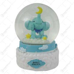"Glob decorativ cu elefant ""Small Garden"" 13 CM"