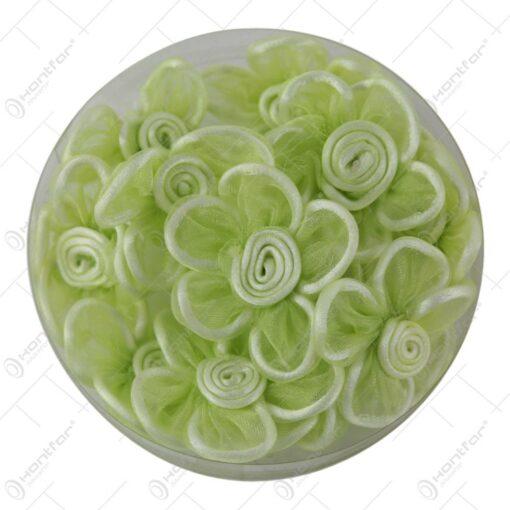 Flori din matase cu lipici Verde 5 CM