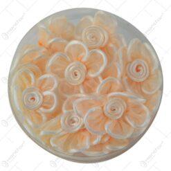 Flori din matase cu lipici Portocaliu 5 CM