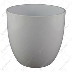 Ghiveci din ceramica Basel Full Alb 16x15 CM