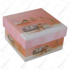 Cutie cadou Home Design 9x9 CM - Se vinde 12 buc/bax