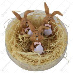 Set 3 figurine iepurasi cu oua