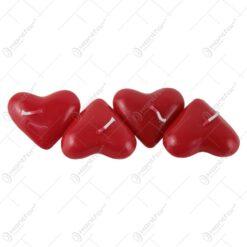 Set 4 lumanari in forma de inima 6 CM