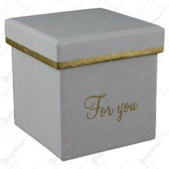 """Cutie cadou 8x8 CM """"For You"""" - Se vinde 6 buc/bax"""
