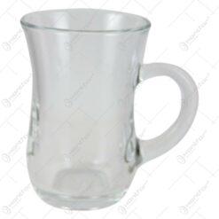Set 12 pahare ceai din sticla transparenta