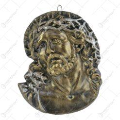 Aplica ipsos Bust Isus/Maria/Rugaciune 12x15 CM