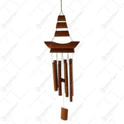 Clopotel de vant realizat din bambus 19x74 CM