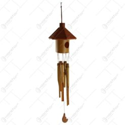 Clopotel de vant realizat din bambus 12x63 CM