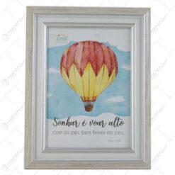 Rama foto din plastic - Dim.poza 13x18 cm - Air ballon