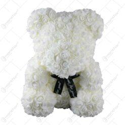 "Ursulet din trandafiri foam ""Just for you"" 35 CM"