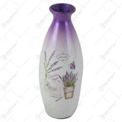 Vaza din ceramica cu lavanda 29 CM - Garden style