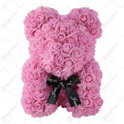 "Ursulet din trandafiri foam ""Just for you"" 28 CM"