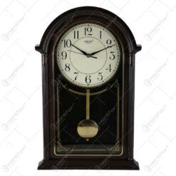 Ceas de perete cu pendula din plastic 27x49 CM