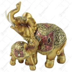 Figurina elefant din rasina aurie 15 cm