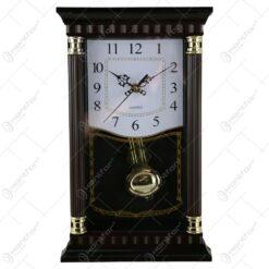 Ceas de perete cu pendula din plastic 18x34 CM
