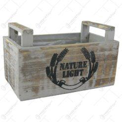 """Ghiveci din lemn """"Nature light"""" Vintage 22x13 CM"""