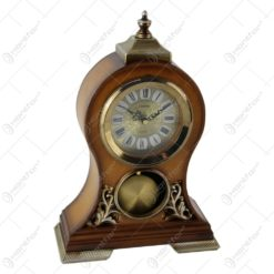 Ceas de masa din lemn Vintage 18x37 CM