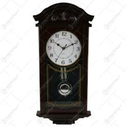 Ceas de perete cu pendula din plastic 22x57 CM