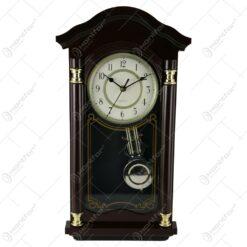 Ceas de perete cu pendula din plastic 22x50 CM
